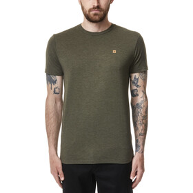 tentree Treeblend Classic T-Shirt Uomo, olive night green heather